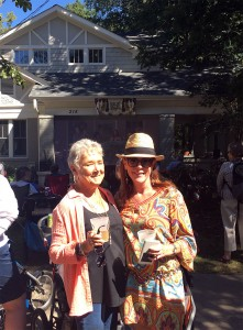 Dawn and her mom at Oakwood Porchfest
