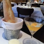 Cocktails and warm bread