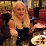 Desserts for all the birthday girls - Lynn is most pleased!