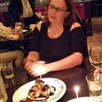 Amanda isn't sure about dessert - she had a wonderful plate of scallops!