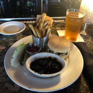 The vegan mushroom French dip sandwich + Reformation (Woodstock GA) Cadence Belgian ale